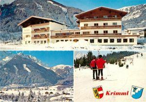 AK / Ansichtskarte Krimml Hotel Gasthof Klockerhaus Sommerfrische Wintersport Alpen Krimml