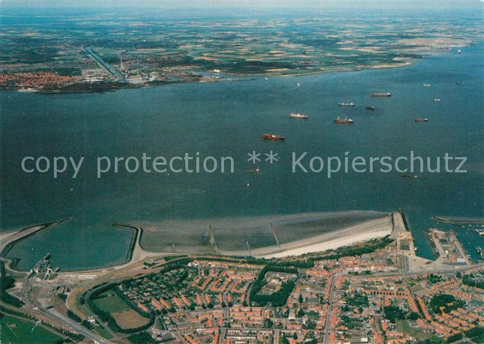 AK / Ansichtskarte Vlissingen Monding Westerscheide Fliegeraufnahme Vlissingen