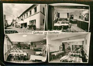 AK / Ansichtskarte Neupotz Gasthaus zur Eisenbahn Gastraeume Neupotz