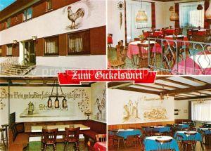AK / Ansichtskarte Wersau_Odenwald Gaststaette Zum Gickelswirt Gastraeume Wersau Odenwald