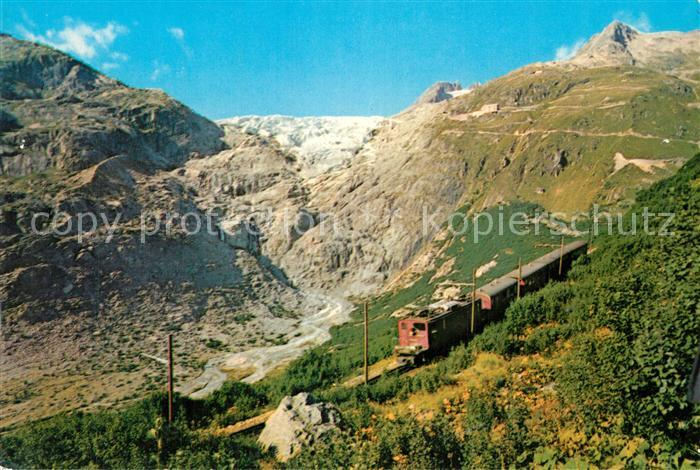 AK / Ansichtskarte Furka Oberalp Bahn Rhonegletscher  Furka Oberalp Bahn