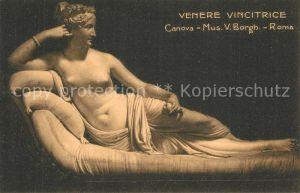 AK / Ansichtskarte Skulpturen Venere Vincitrice Canova Museum Roma