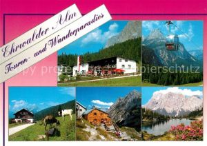 AK / Ansichtskarte Ehrwald_Tirol Ehrwalder Alm Bergsee Zugspitze Wettersteingebirge Ehrwald Tirol