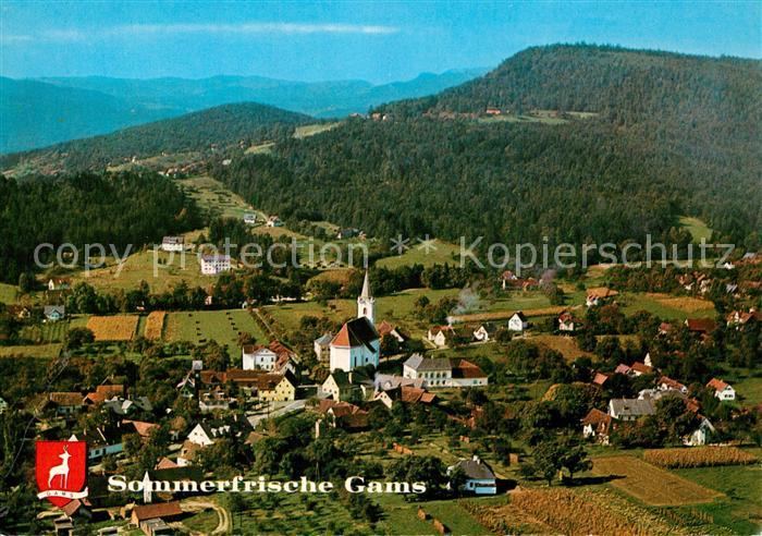 AK / Ansichtskarte Gams_SG Sommerfrische Fliegeraufnahme Gams_SG