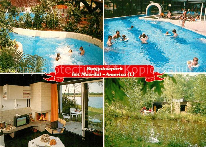 AK / Ansichtskarte America_Niederlande Bungalowpark het Meerdal Sporthuis Centrum Freibad America_Niederlande