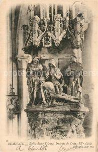 AK / Ansichtskarte Beauvais Eglise Saint Etienne Descente de Croix Beauvais