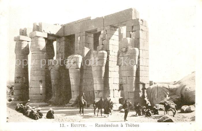 AK / Ansichtskarte Thebes_Aegypten Ramesseum Thebes Aegypten