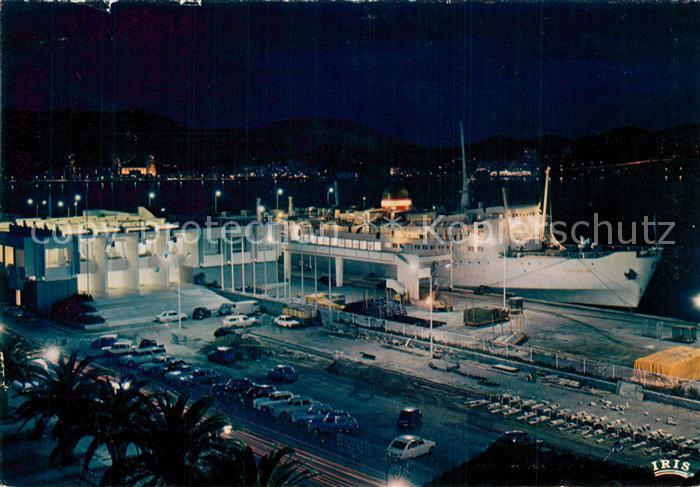 AK / Ansichtskarte Ajaccio Port Gare Maritime Nachtaufnahme Ajaccio