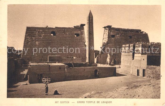 AK / Ansichtskarte Louqsor_Luxor Grand Temple Louqsor Luxor