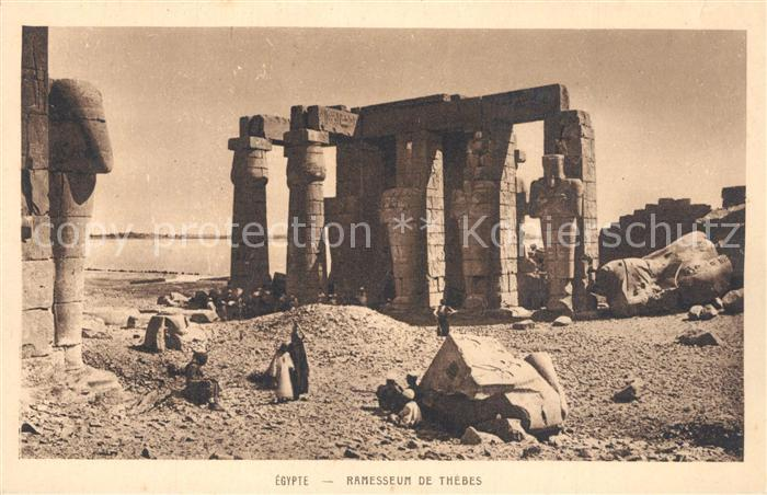 AK / Ansichtskarte Thebes_Aegypten Ramesseum S?ulen Thebes Aegypten