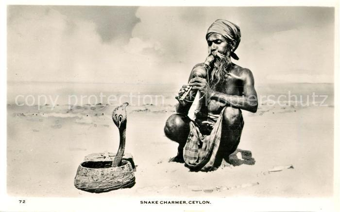 AK / Ansichtskarte Ceylon_Sri_Lanka Snake Charmer  Ceylon_Sri_Lanka