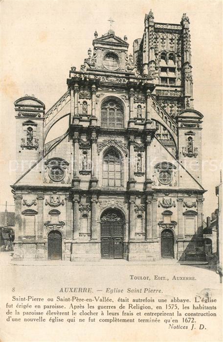 AK / Ansichtskarte Auxerre Eglise Saint Pierre Auxerre