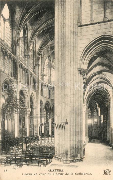 AK / Ansichtskarte Auxerre Tour du Choeur de la Cathedrale Auxerre