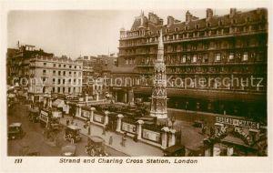 AK / Ansichtskarte London Strand and Charing Cross Station London