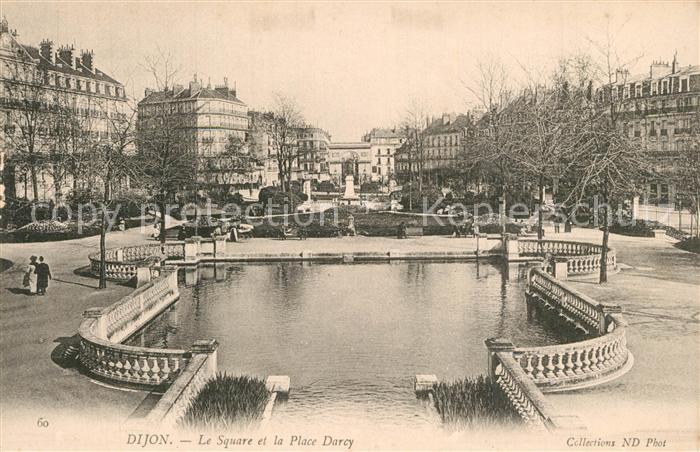 AK / Ansichtskarte Dijon_Cote_d_Or Le Square et la Place Darcy Dijon_Cote_d_Or