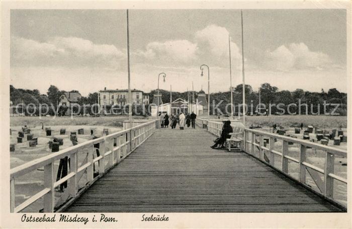 AK / Ansichtskarte Misdroy_Ostseebad_Westpommern Seebruecke Misdroy_Ostseebad
