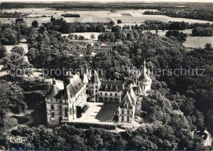 AK / Ansichtskarte Chaumont sur Loire Le Chateau Vue aerienne Chaumont sur Loire
