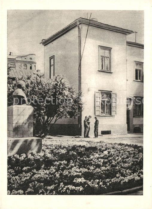 AK / Ansichtskarte Riga_Lettland Mams Cesu iela Nr 17 kur uzturejies Lenins Riga_Lettland