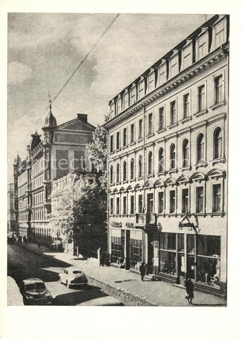 AK / Ansichtskarte Riga_Lettland Nams Kirova iela Nr 18 kur uzturejies Lenins Riga_Lettland