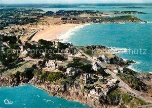 AK / Ansichtskarte Saint Lunaire Vue aerienne Les villas et la plage de Longchamp Saint Lunaire