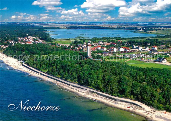 AK / Ansichtskarte Niechorze_Horst Fliegeraufnahme Niechorze_Horst