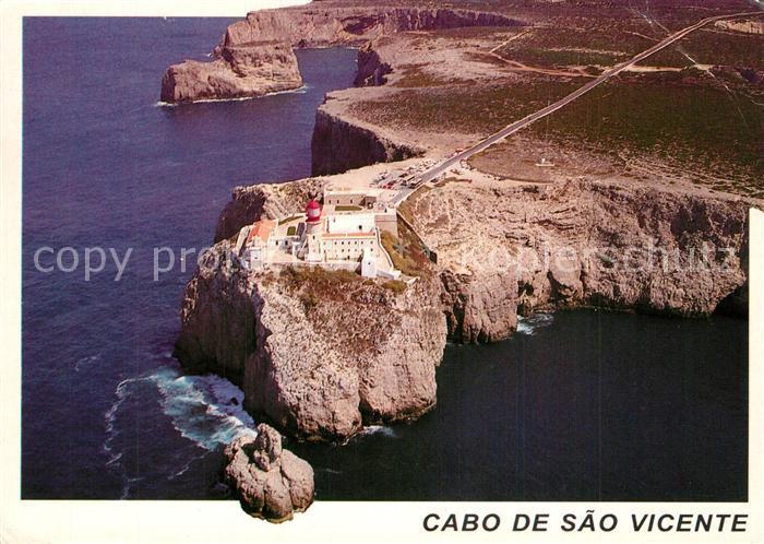 AK / Ansichtskarte Cabo_de_Sao_Vicente_Algarve Fliegeraufnahme Cabo_de