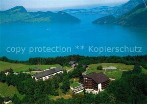 AK / Ansichtskarte Emmetten Heimstaette SPM Ferienzentrum Fliegeraufnahme Emmetten