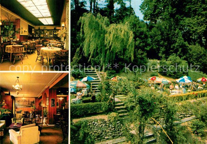 AK / Ansichtskarte Valkenburg_aan_de_Geul Hotel Restaurant Riche Gastraeume Garten Valkenburg_aan_de_Geul