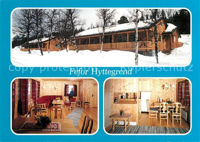 AK / Ansichtskarte Vinstra Fefor Hyttegrend Ferienhaeuser