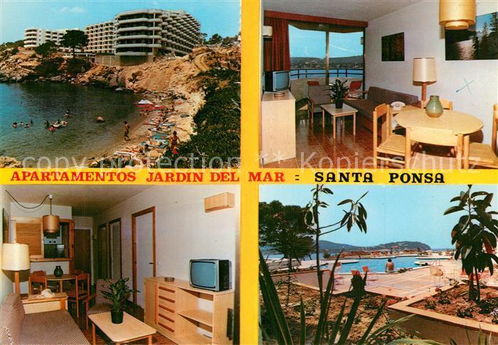 AK / Ansichtskarte Santa_Ponsa_Mallorca_Islas_Baleares Apartamentos Jardin del Mar Playa Santa_Ponsa