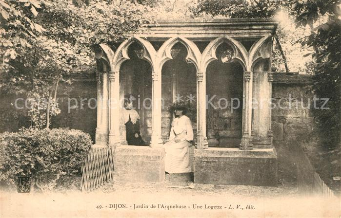 AK / Ansichtskarte Dijon_Cote_d_Or Une Logette Jardin de l`Arquebuse Dijon_Cote_d_Or