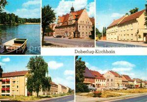 AK / Ansichtskarte Doberlug Kirchhain Bad Erna Rathaus HOG Gr?ner Berg Bahnhofstrasse Doberlug Kirchhain