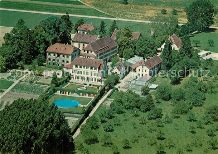 AK / Ansichtskarte Montmirail_NE Fliegeraufnahme Institution de Montmirail