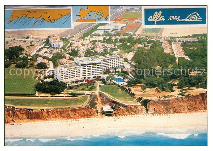 AK / Ansichtskarte Albufeira Hotel Alfa Mar Fliegeraufnahme Albufeira