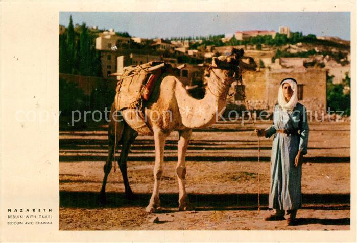 AK / Ansichtskarte Nazareth_Israel Beduine mit Kamel Nazareth Israel