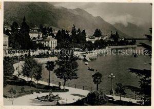 AK / Ansichtskarte Locarno_Lago_Maggiore Quai Giuseppe Motta Locarno_Lago_Maggiore