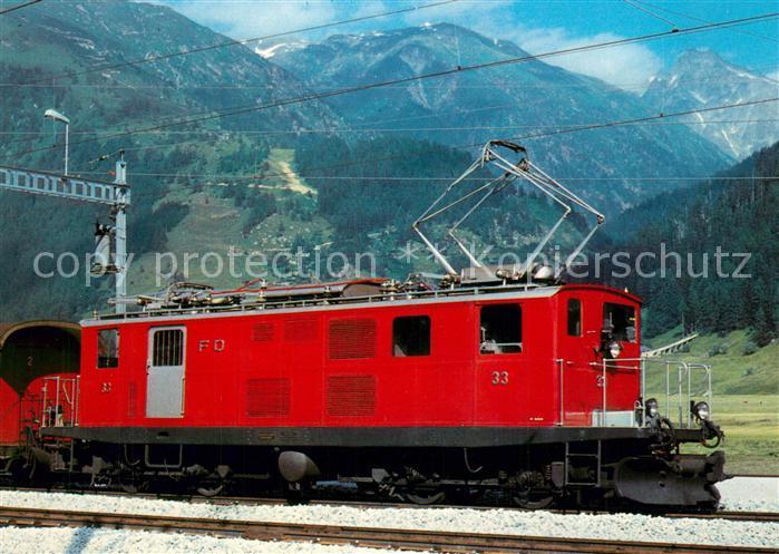 AK / Ansichtskarte Furka Oberalp Bahn Elektrische Zahnradlokomotive HGe 4 4 33  Furka Oberalp Bahn