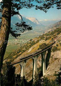 AK / Ansichtskarte Eisenbahn Bern L?tschberg Simplon Bahn Luogelkinviadukt Wallis Eisenbahn