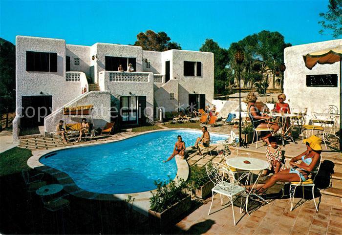 AK / Ansichtskarte Paguera_Mallorca_Islas_Baleares Hotel Villa Columbus Pool Paguera_Mallorca