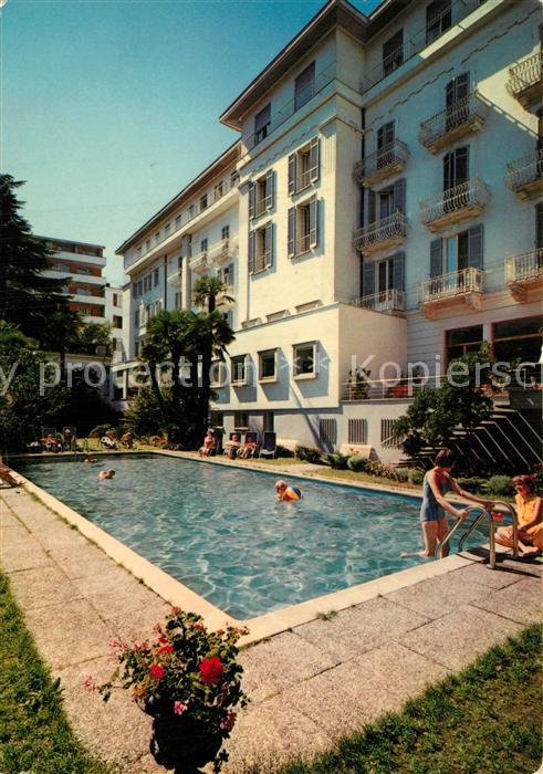 AK / Ansichtskarte Lugano_TI Paradiso Hotel Meister Pool Lugano_TI