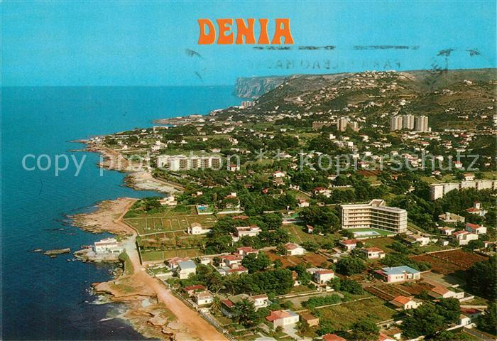 AK / Ansichtskarte Denia Vista aerea de la costa Denia
