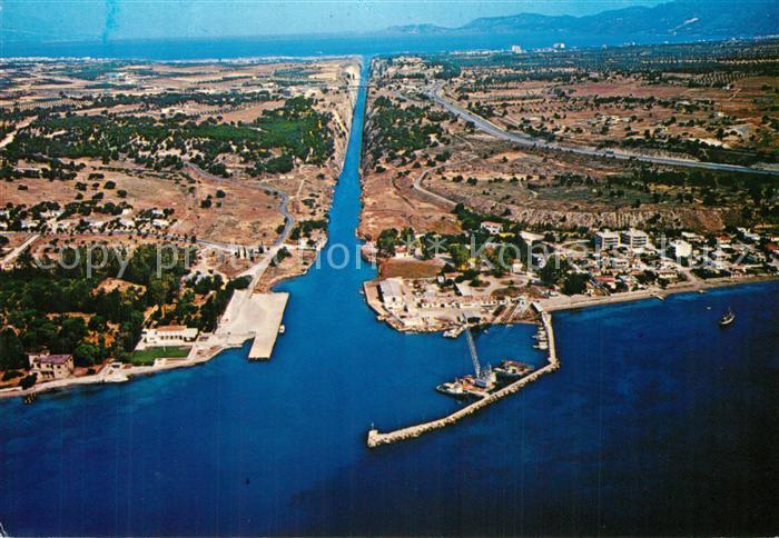 AK / Ansichtskarte Corinth Fliegeraufnahme Canal Corinth