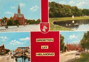 AK / Ansichtskarte Helmond Oud Ned Herv Kerk Warande Kasteel Raadhuis Stadsbrug Helmond