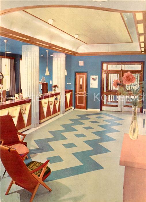 AK / Ansichtskarte Bodo Norrona Hotel Resepsjonen Illustration Bodo