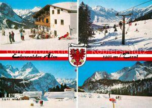 AK / Ansichtskarte Ehrwald_Tirol Ehrwalder Alm Wintersportplatz Alpen Ehrwald Tirol