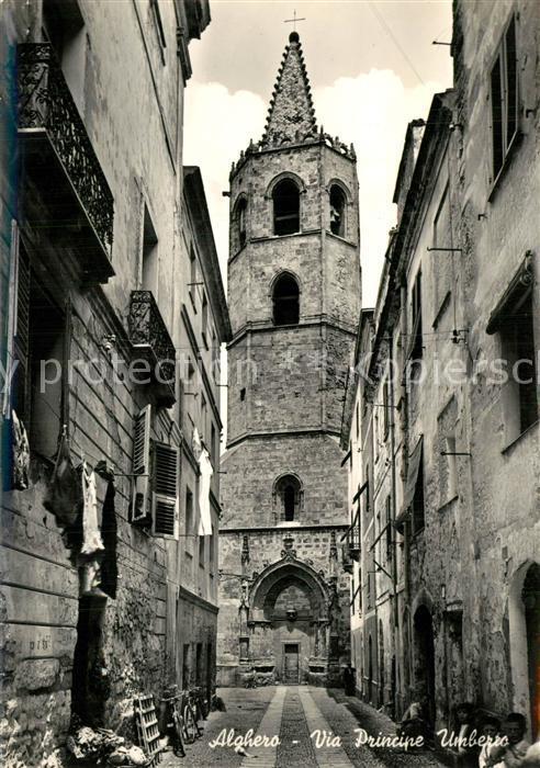 AK / Ansichtskarte Alghero Via Principe Umberro Alghero