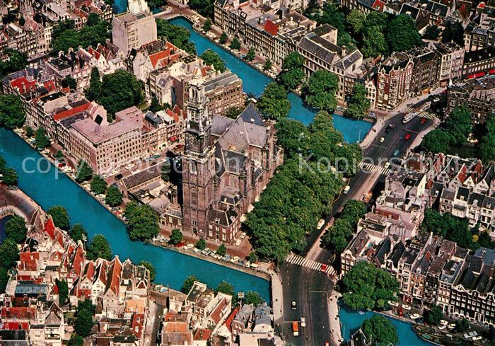 AK / Ansichtskarte Amsterdam_Niederlande Westerkerk luchtopname Amsterdam_Niederlande
