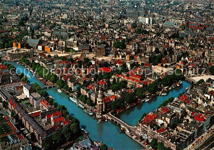 AK / Ansichtskarte Amsterdam_Niederlande Centrum luchtopname Amsterdam_Niederlande