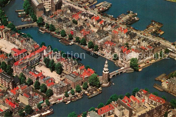 AK / Ansichtskarte Amsterdam_Niederlande Montelbaanstoren en omgeving luchtopname Amsterdam_Niederlande