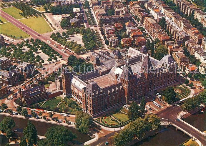 AK / Ansichtskarte Amsterdam_Niederlande Rijksmuseum luchtopname Amsterdam_Niederlande
